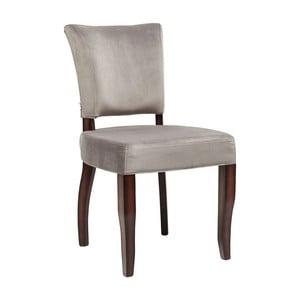 Šedá židle Kare Design Prince Velvet