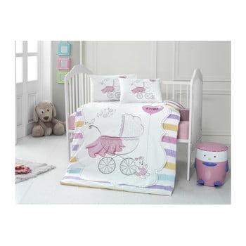 Lenjerie de pat din bumbac pentru copii Pastel 100 x 150 cm