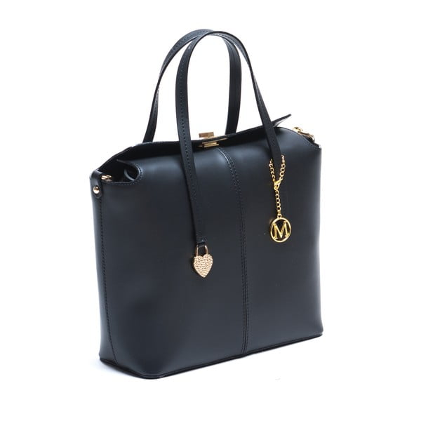 Kožená kabelka Constanza, černá