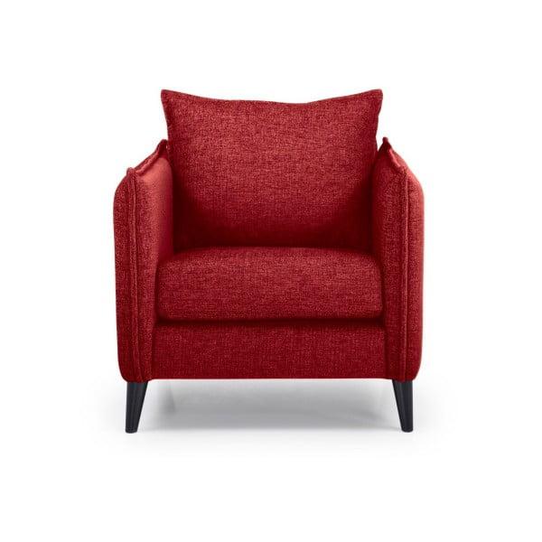 Czerwony fotel Scandic Leo