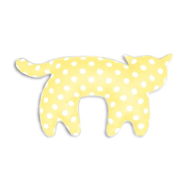Cestovní polštář za krk Kočka Feline, žluté puntíky