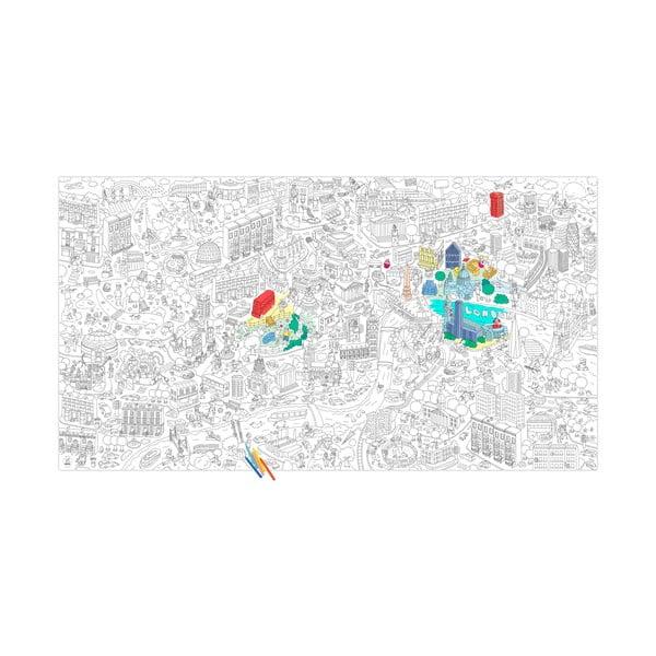 Omalovánka OMY London XXL (180 x 100 cm)
