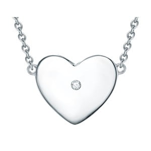 Stříbrný náhrdelník s pravým diamantem Tess Diamonds Leva, délka40cm
