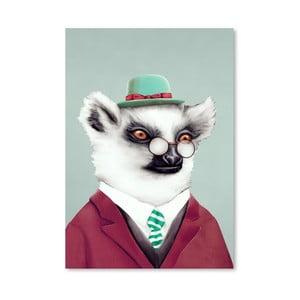 Plakát Lemur, 30x42 cm