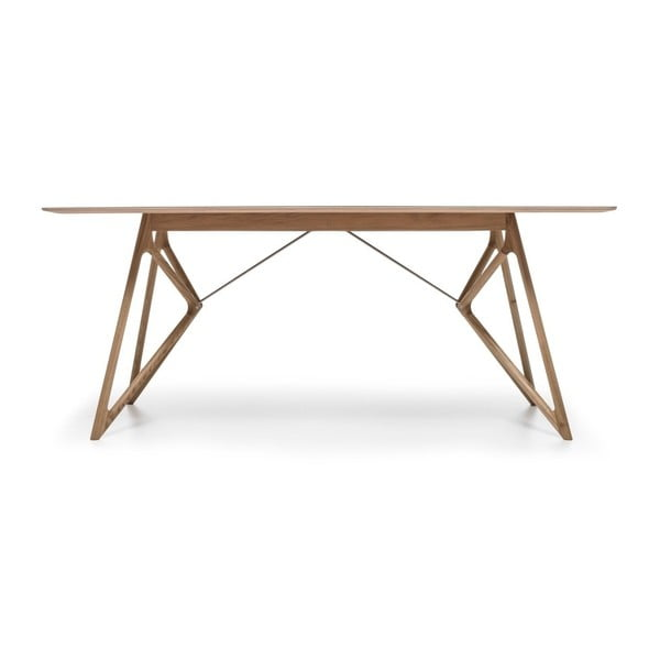 Dubový jídelní stůl Tink Linoleum Gazzda, 160cm, olivový