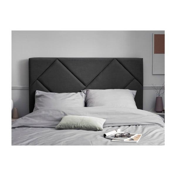 Tmavě šedé čelo postele HARPER MAISON Annika, 140 x 120 cm