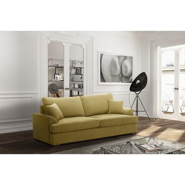 Žlutá třímístná pohovka Jalouse Maison Irina