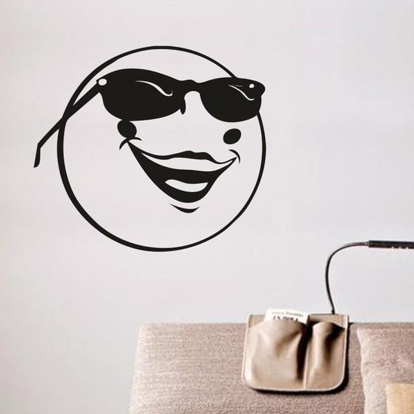 Samolepka na stěnu Relax Smajlík, černá
