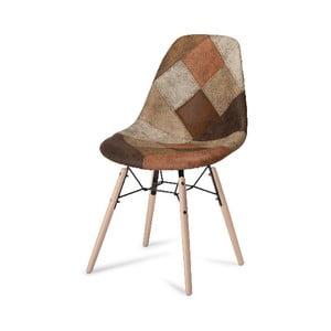 Scaun cu picioare din lemn de fag Furnhouse Sun Patch, maro