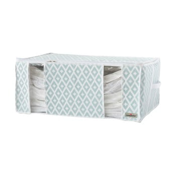 Cutie pentru depozitare cu vacuum Compactor Stripes, alb - verde