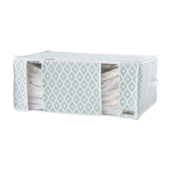 Bílo-zelený vakuový box Compactor Stripes