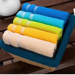 Sada 5 ručníků Oil Basket, 30x50 cm