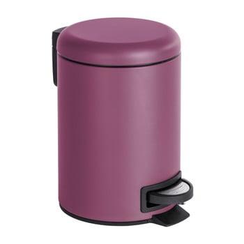 Coș de gunoi cu pedală Wenko Leman, 3 l, violet de la Wenko