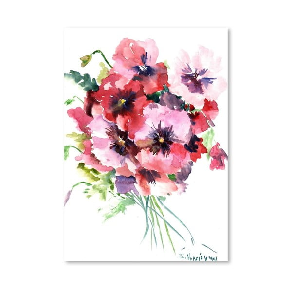 Plakát Pink Pansies od Suren Nersisyan