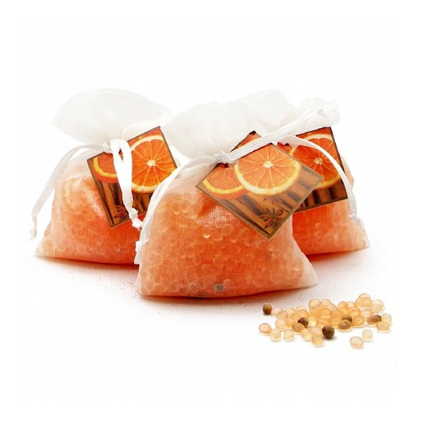 Vonné vrecúško z organzy s vôňou pomaranča a škorice Ego Dekor Frutos