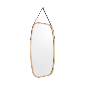 Oglindă de perete cu ramă din bambus PT LIVING Idylic, lungime 74 cm