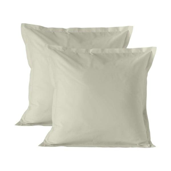 Sada 2 béžových bavlněných povlaků na polštář Happy Friday Basic, 60x60cm