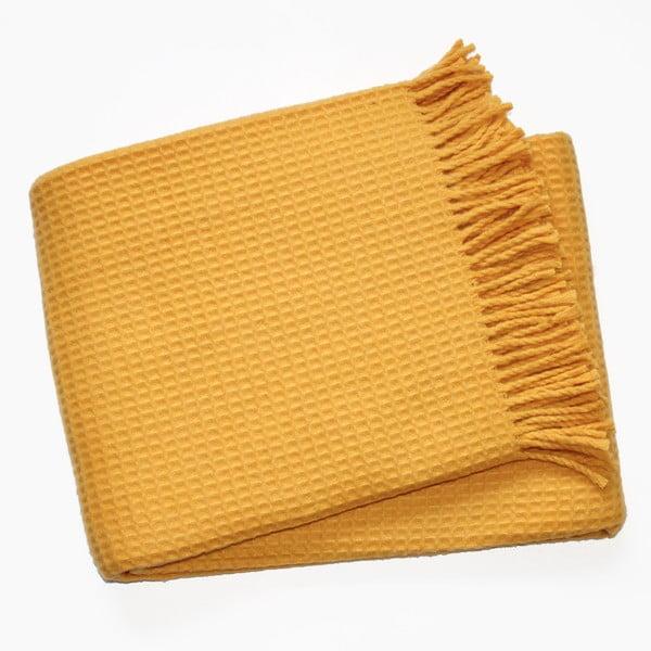 Deka Waffel Saffron Yellow, 140×180cm