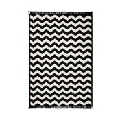 Černo-bílý oboustranný koberec CihanBilisimTekstil Zig Zag, 120x180cm