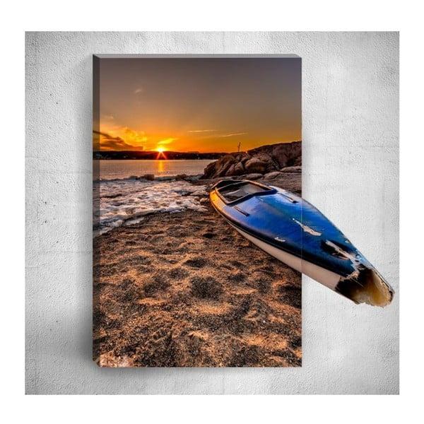 Nástěnný 3D obraz Mosticx Sunset At Beach, 40 x 60 cm
