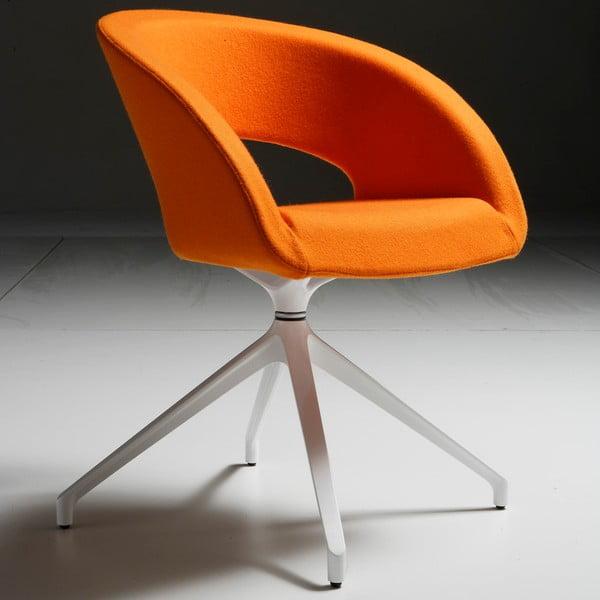 Oranžová kancelářská židle Zago Que Five