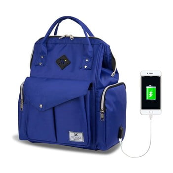 Rucsac maternitate cu port USB My Valice HAPPY MOM Baby Care, albastru de la Myvalice
