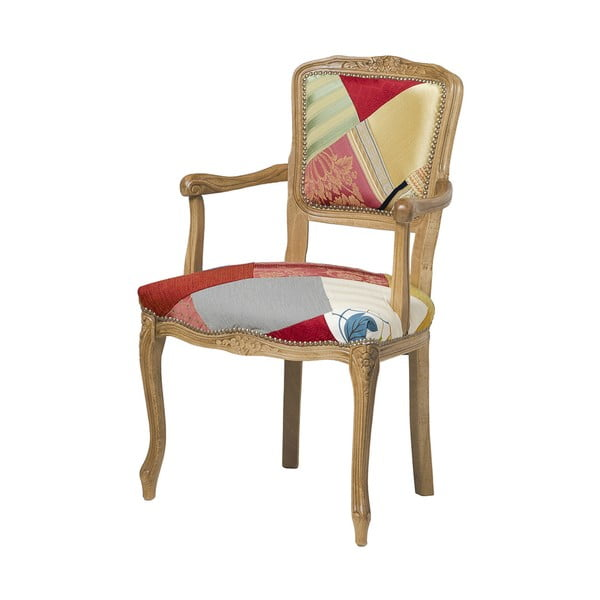 Drevená stolička Evergreen Hous Patchwork Hanz