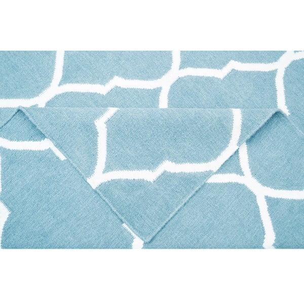 Světle modrý vlněný koberec Bakero Caroline, 60x90cm
