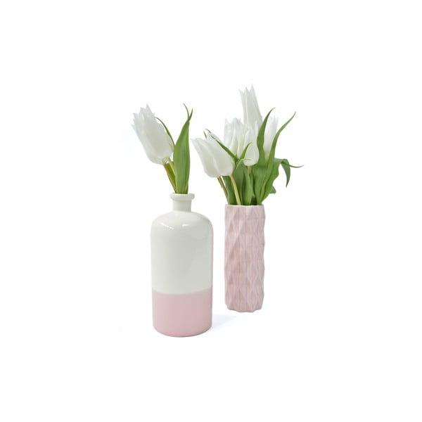 Béžovo-růžová váza Hawke&Thorn Parker