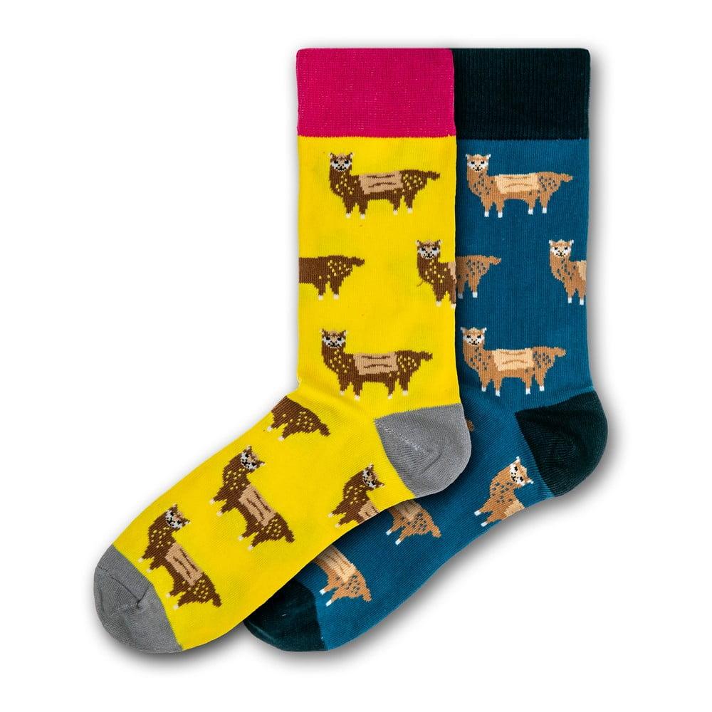 Sada 2 párů barevných ponožek Funky Steps Llamas, velikost 41 - 45