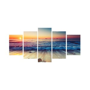 Pětidílný obraz Tropical Paradise Sunset