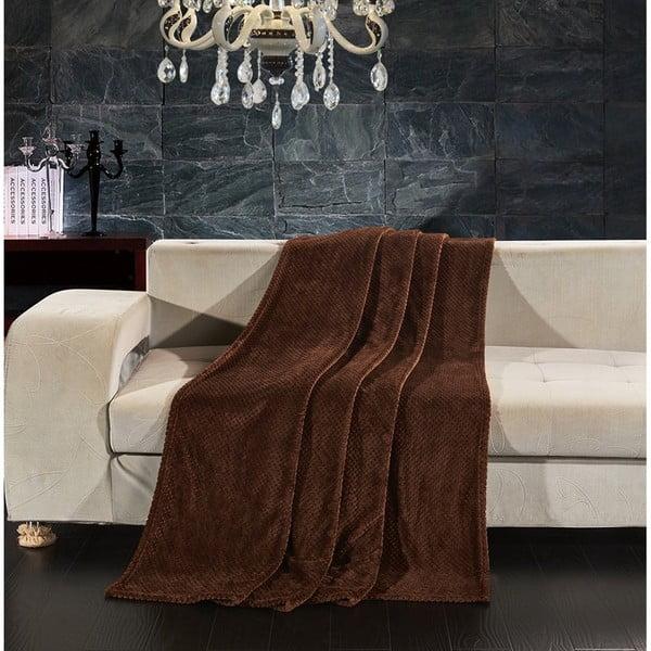 Hnědá deka z mikrovlákna DecoKing Henry, 150x200cm