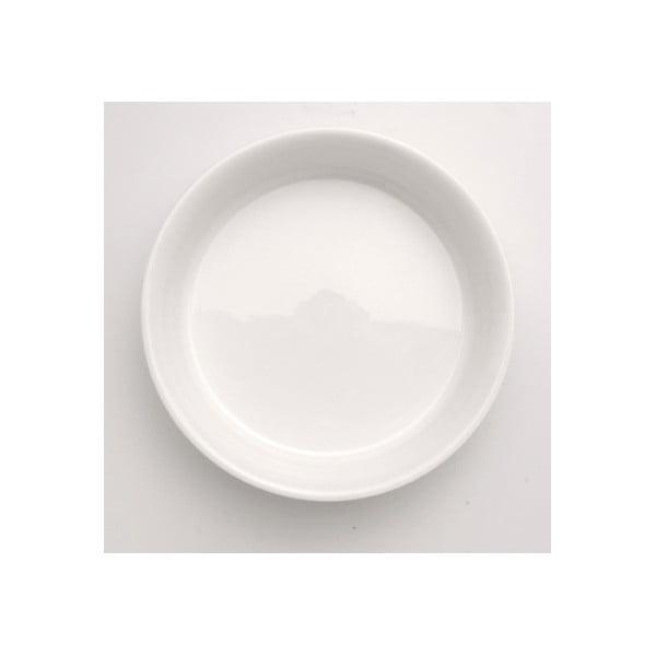 Bílá kulatá kameninová zapékací mísa BergHOFF Bianco, 24 cm