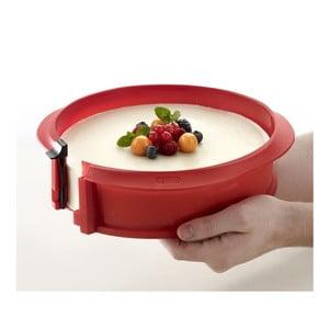 Dortová forma s keramickým talířem, červená