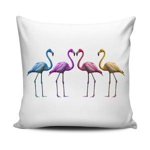 Polštář Home de Bleu Colored Flamingos, 43x43cm