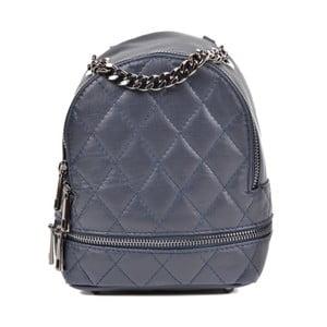 Tmavě modrý kožený batoh Roberta M Awero Scuro