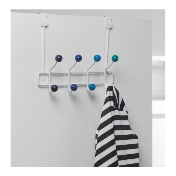 Cuier cu 8 cârlige Compactor Colorful, albastru