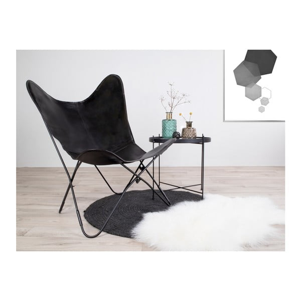 Černá kožená židle House Nordic Colombo