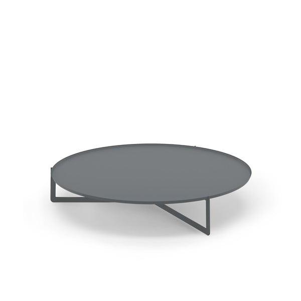 Šedý konferenční stolek MEME Design Round, Ø120cm