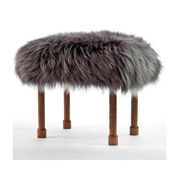 Stolička z ovčí kůže Myfanwy Slate Grey