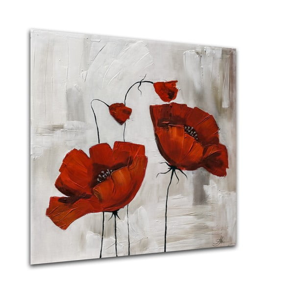 Obraz Styler Glasspik Flower Poppy Bloom, 20 x 20 cm