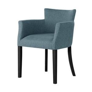 Světle modrá židle s černými nohami Ted Lapidus Maison Santal