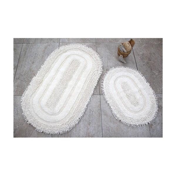 Zestaw 2 białych dywaników łazienkowych Jane