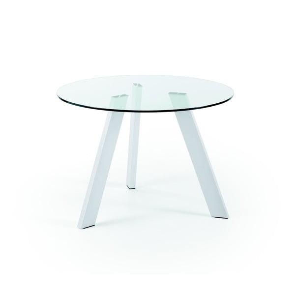 Jídelní stůl s bílými nohami La Forma Columbia, průměr 110cm