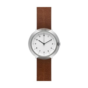 Hodinky White Fuji Brown Leather, 43 mm