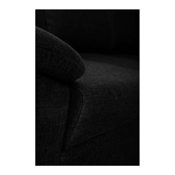 Černá pohovka Florenzzi Savasta s lenoškou na pravé straně