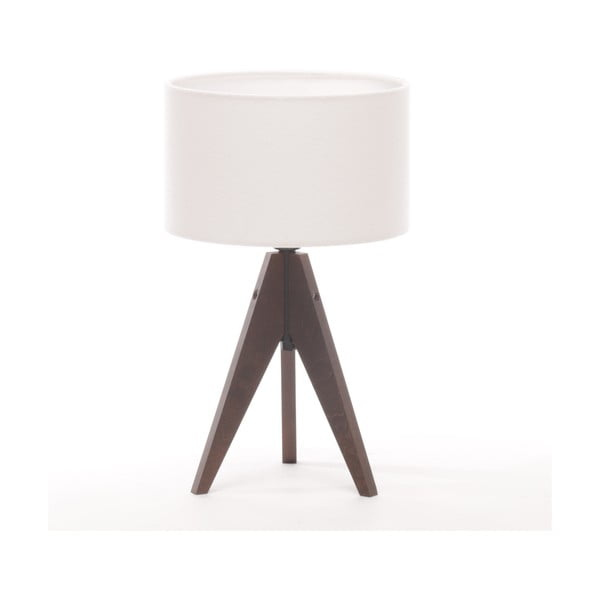 Stolní lampa Arist Cylinder White/Brown
