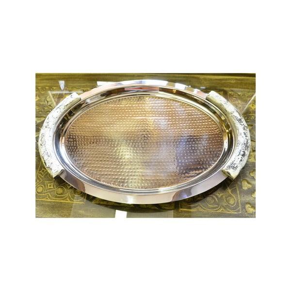 Stříbrný tác Indie, 60x43 cm