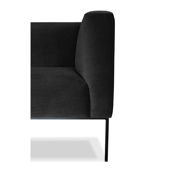 Černá trojmístná pohovka Windsor&Co. Sofas Neptune