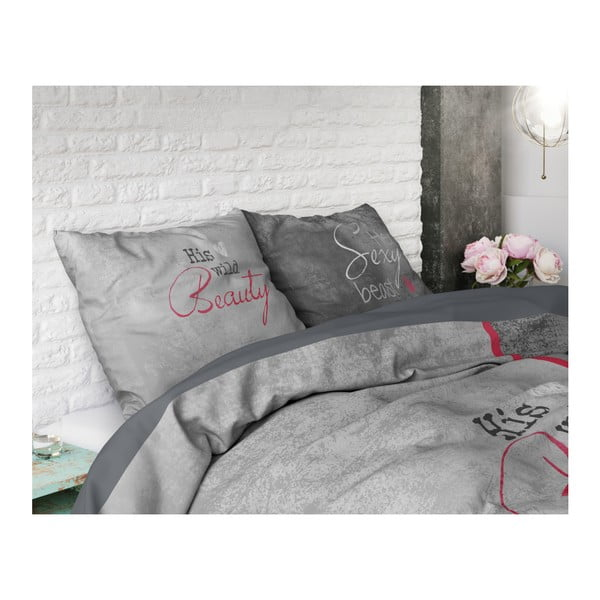 Povlečení na dvoulůžko z čisté bavlny Sleeptime Beauty and the Beast, 200 x 220 cm